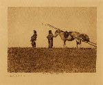 volume 18 facing: page  36 A travois - Blackfoot - photogravure plate