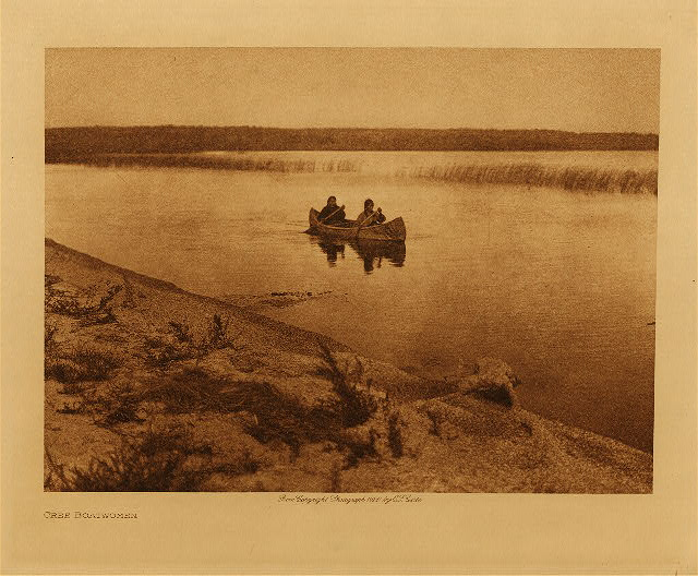 volume 18  facing: page  64 Cree boatwomen