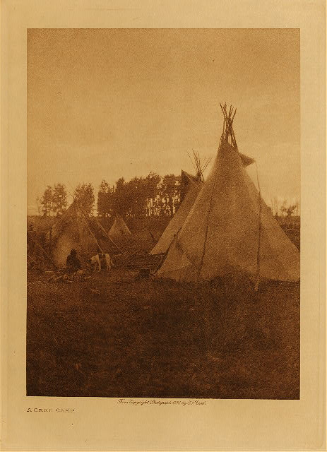 volume 18  facing: page  66 A Cree camp