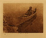 volume 18 facing: page  82 A Cree canoe - photogravure plate