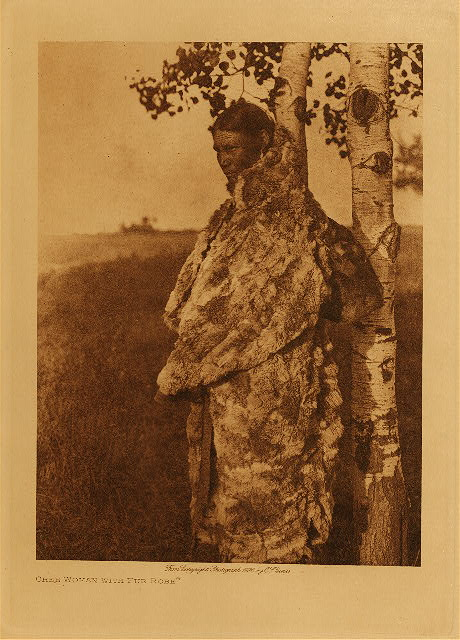 volume 18  facing: page  86 Cree woman with fur robe