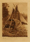volume 18 facing: page  98 A Sarsi tipi - photogravure plate