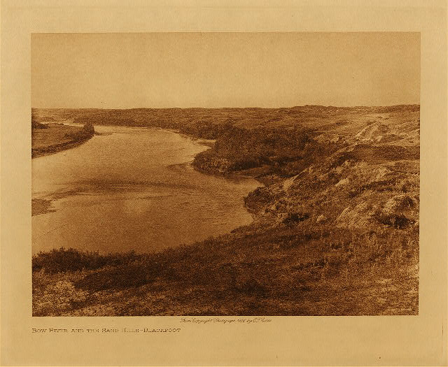 volume 18  facing: page  112 Bow River and the sandhills - Blackfoot