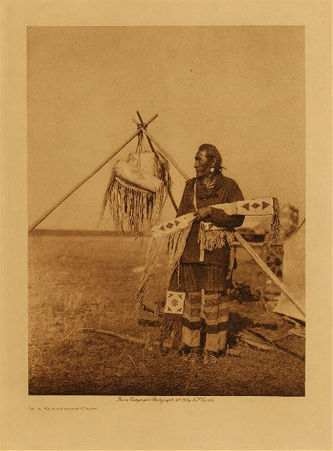 volume 18  facing: page  114 In a Blackfoot camp