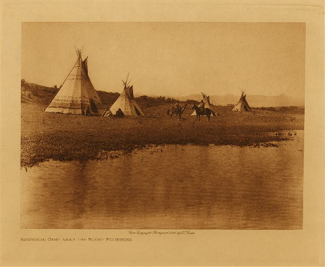 volume 18  facing: page  168 Assiniboin camp near the Rocky Mountains