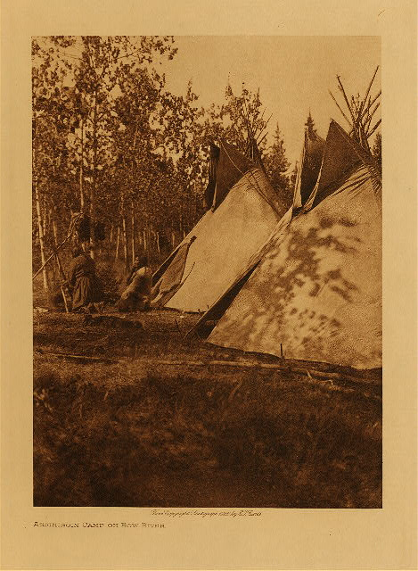 volume 18  facing: page  172 Assiniboin camp on Bow River