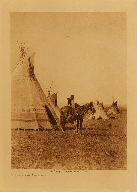 volume 18  facing: page  176 A chief's son - Assiniboin