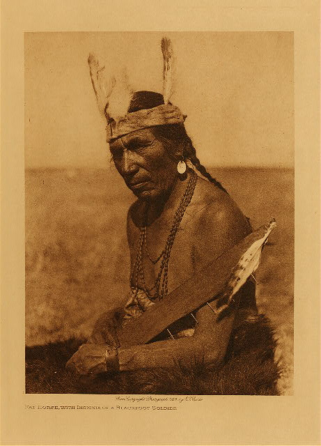 volume 18  facing: page  188 Fat horse, with insignia of a Blackfoot soldier