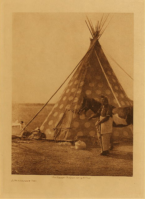 volume 18  facing: page  196 A Blackfoot tipi