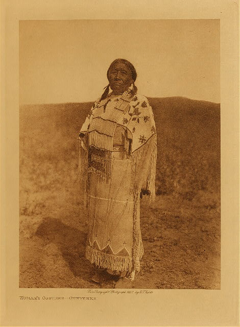 volume 19  facing: page  76 Woman's costume - Cheyenne