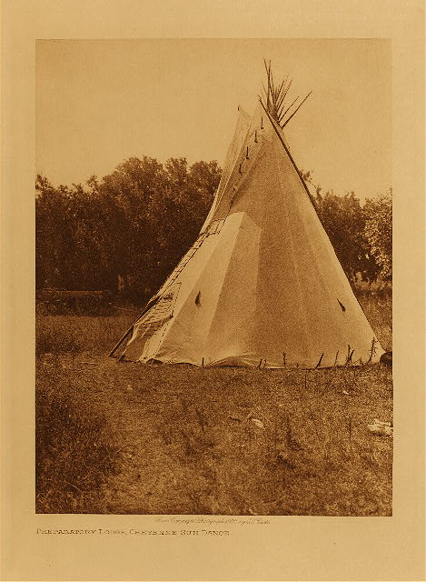 volume 19  facing: page  116 Preparatory lodge, Cheyenne sun dance