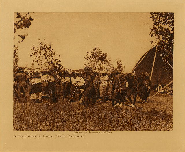 volume 19  facing: page  124 Buffalo society, animal dance - Cheyenne
