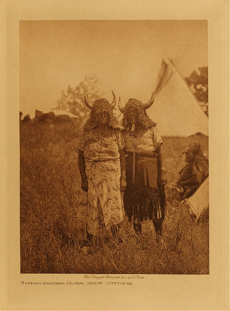 volume 19  facing: page  126 Buffalo dancers, animal dance - Cheyenne