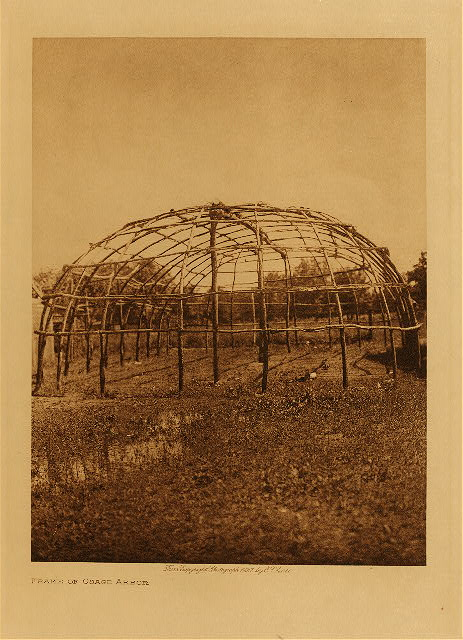 volume 19  facing: page  168 Frame of Osage arbor