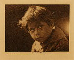 volume 19 facing: page  192 A Comanche child - photogravure plate