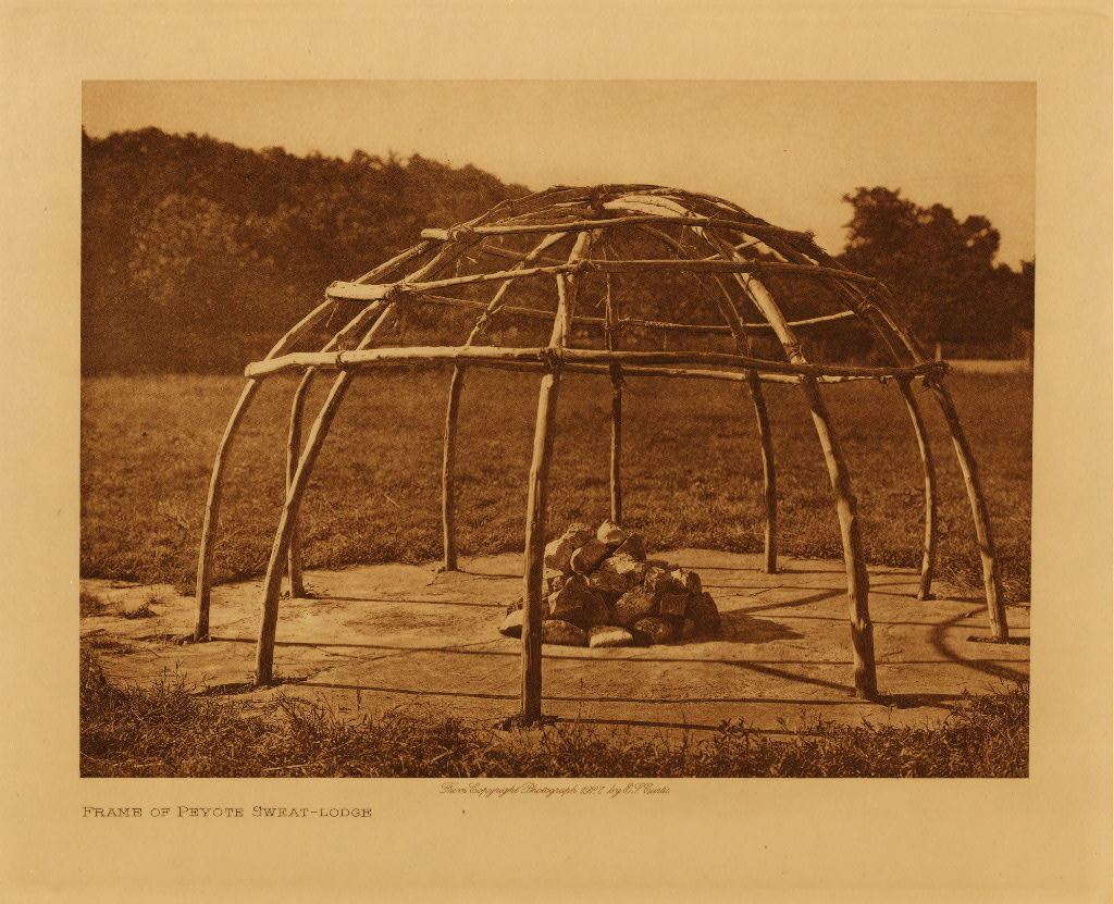 volume 19  facing: page  206 Frame of peyote sweat-lodge