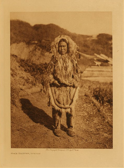 volume 20  facing: page  28 Girl's costume, Nunivak