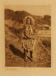 volume 20 facing: page  28 Girl's costume, Nunivak - photogravure plate