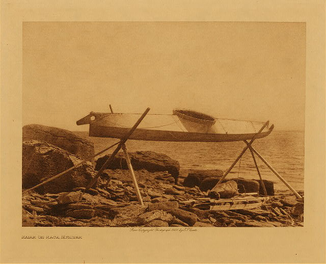 volume 20  facing: page  48 Kaiak on rack, Nunivak