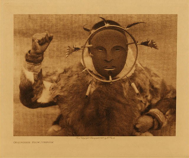 volume 20  facing: page  80 Ceremonial mask, Nunivak