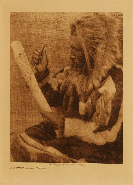 volume 20  facing: page  86 The ivory carver, Nunivak