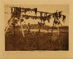 volume 20 facing: page  94 Drying whale meat, Hooper Bay - photogravure plate