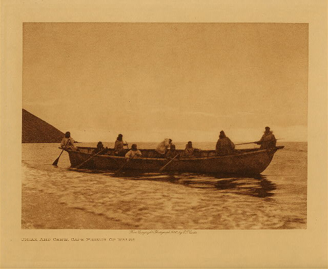 volume 20  facing: page  144 Umiak and crew, Cape Prince of Wales