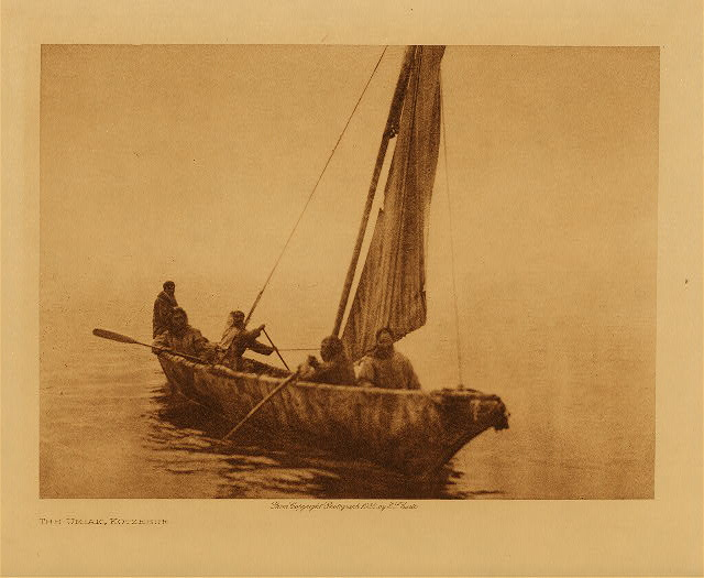 volume 20  facing: page  190 The umiak, Kotzebue