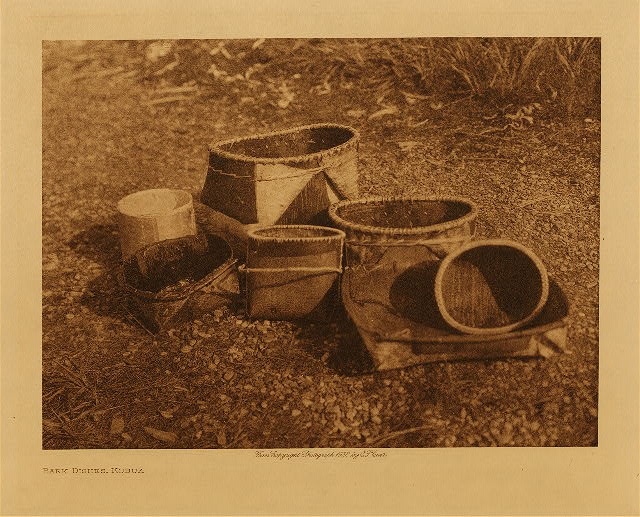 volume 20  facing: page  208 Bark dishes, Kobuk