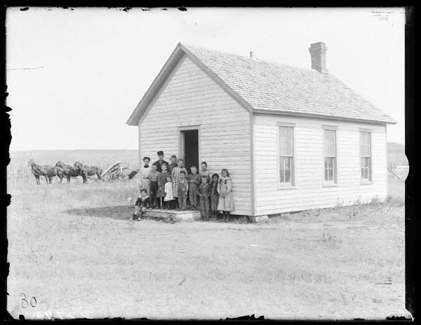 Historic school house, Solomon Butcher