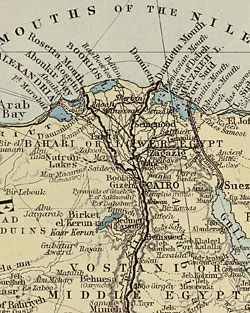 Map Detail The Nile Valley Including Egypt Ca Coptic - Map of egypt detailed