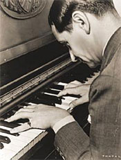 Image: Irving Berlin playing the piano