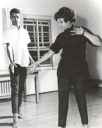 Image of Dunham teaching dancing