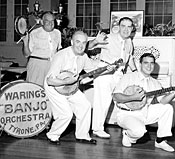 Image: Fred Waring, Jr. appears with his father's band, Fred Waring and the Pennsylvanians