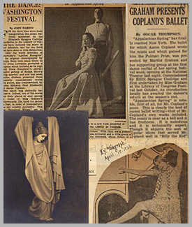 Montage of Martha Graham images