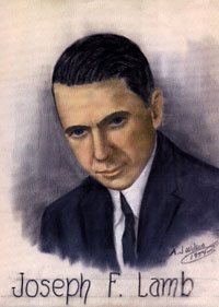 Image: Pastel drawing of Joseph Lamb