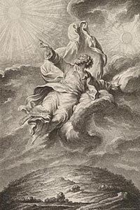 Image: [God in the heavens]. Noël Le Mire, 1724-1801