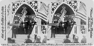 "Image: Paris Exposition 1900 Sousa Band ""Stars and Stripes forever"""