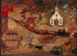 Image: Rug 4 - Strawberry Capital of the World, Pittsville, Maryland