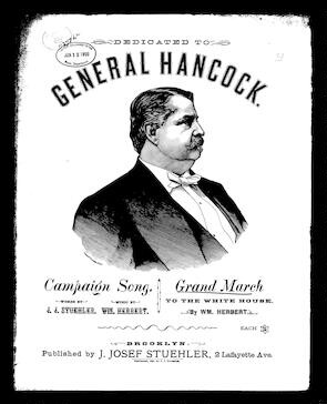 General Hancock's grand march to the White House [sheet music]