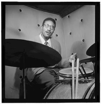 [Portrait of Max Roach, Three Deuces, New York, N.Y., ca. Oct. 1947] [graphic]
