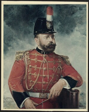 Painting of Sousa during US Marine Band era. [photograph]