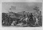 Washington raising the British flag at Ft. Duquesne