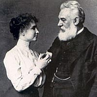 Helen Keller and Alexander Graham Bell