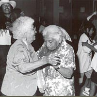 Elder and younger dancers at the 1997 Festival