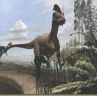 Painting of dinosaur from Jurassic Period
