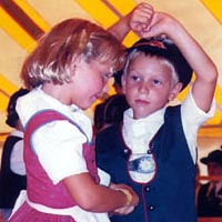 Children perform Laendler folk dance, 1999 Oktoberfest