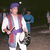 Young Okinawans perform at Bon Dance Club