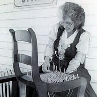 Chair-caning demonstration, October 1999