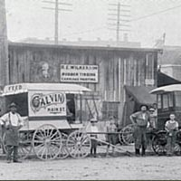 Carriage painting and repair shop, Bowling Green, c. 1900